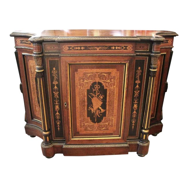 19th Century Renaissance Rosewood Bronze Mounted Credenza For Sale
