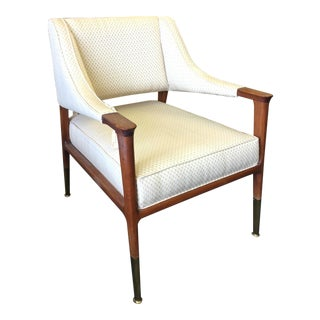 Mid-Century Modern Walnut Arm Chair For Sale