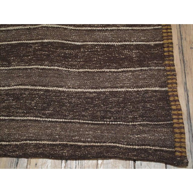1950s Banded Kilim For Sale - Image 5 of 5