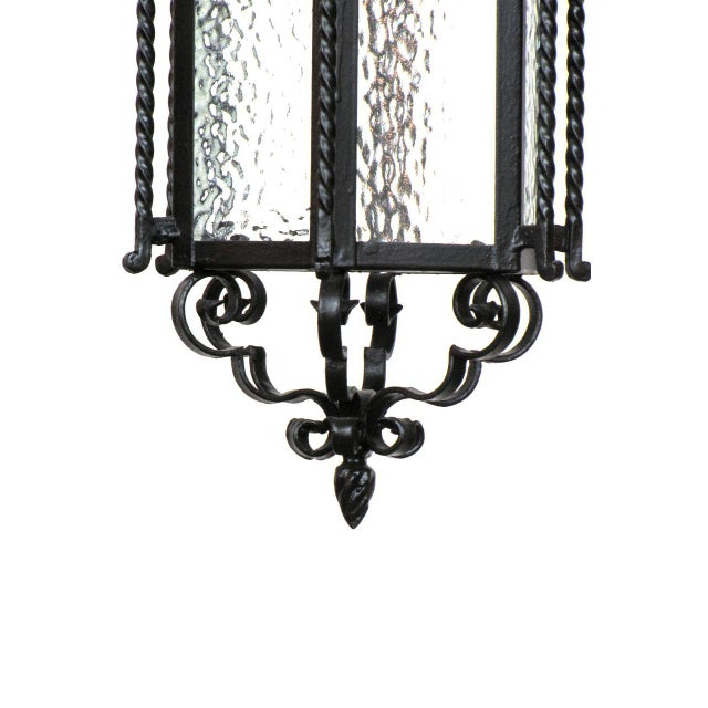 Early 20th Century Pair of Iron Exterior Lanterns For Sale - Image 5 of 6