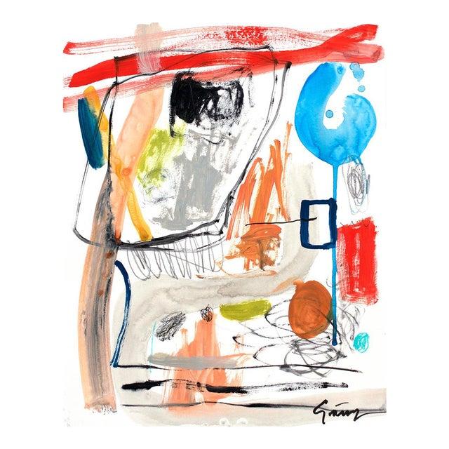 Lesley Grainger 'Narrative' Original Abstract Painting - Image 1 of 3