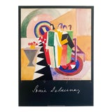 Image of Sonia Delaunay Vintage 1986 Fine Art Lithograph Print Jacques Damase French Art Deco Poster For Sale
