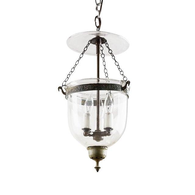 1880s English Small Bell Jar Lantern