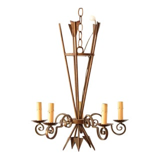 Iron Rustic Empire Chandelier With Arrows For Sale