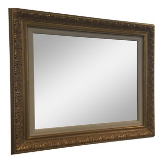 Gold Leafing Mirror With Fabric Inner Frame For Sale