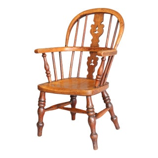 Antique English Windsor Child's Chair For Sale