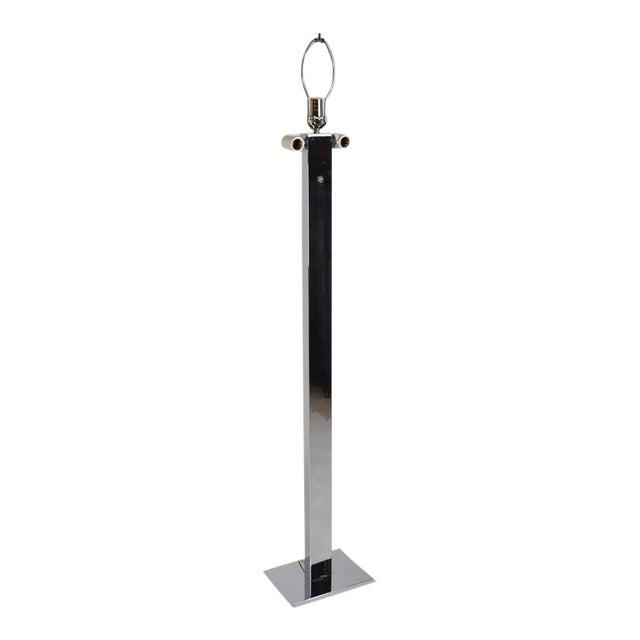 1970s Modern Stainless Steel Slab Floor Lamp For Sale