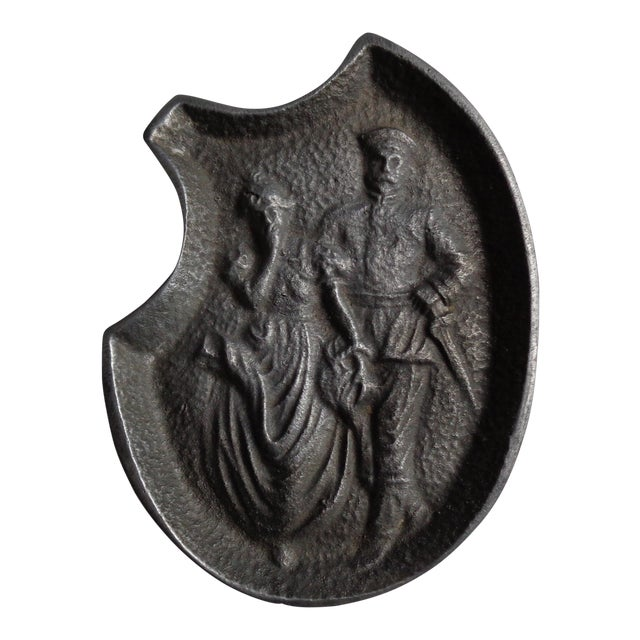 Vintage Soldier and Damsel Pewter Ashtray, With Naughty Surprise - Image 1 of 5