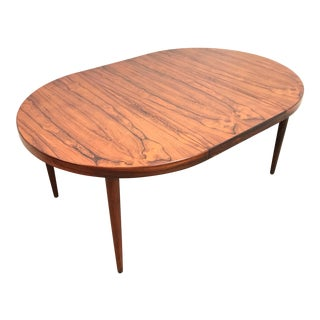 1960s Mid Century Modern Rosewood Dining Table For Sale