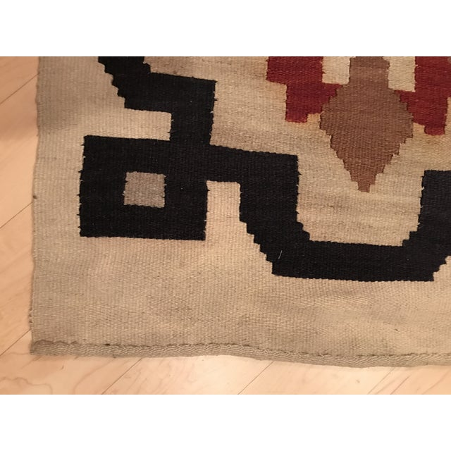 Vintage Woven Kilim Aztec Throw Rug or Wall Hanging - 1′12″ × 4′4″ - Image 4 of 7