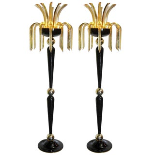 Pair of Pharaoh Floor Lamps by Fabio Ltd For Sale