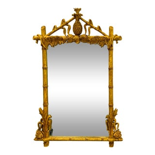 Hollywood Regency Style Gampel-Stoll Pineapple Mirror For Sale