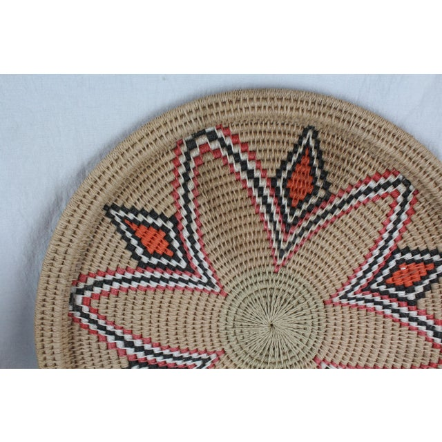Mid 20th Century Vintage Mid-Century Tribal Woven Platter For Sale - Image 5 of 6