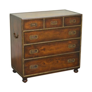 Theo. Alexander Mahogany Campaign Style Chest of Drawers