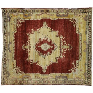 1940s Vintage Turkish Sivas Rug- 8′9″ × 10′3″ For Sale