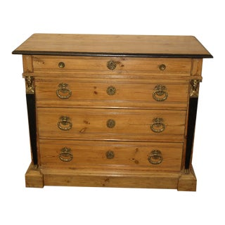 Regency Style Four Drawer Pine Chest For Sale