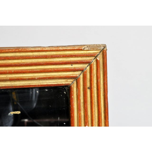 19th Century French Mirror with Red Lacquer and Gold Leaf For Sale - Image 4 of 11