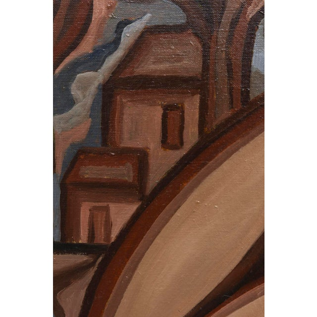 Signed French Suzanne Bertillon Art Deco Oil On Canvas Custom Framed Painting For Sale In Miami - Image 6 of 11