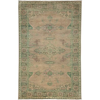 """New Oushak Hand Knotted Area Rug - 5'3"""" X 8'1"""""""