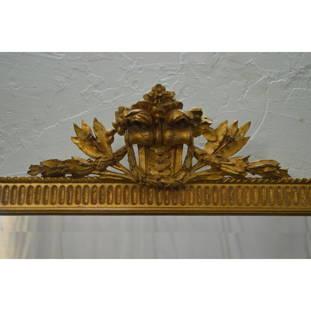 Gold Carvers Guild French Louis XV Style Gilt Frame Beveled Wall Mirror For Sale - Image 8 of 10