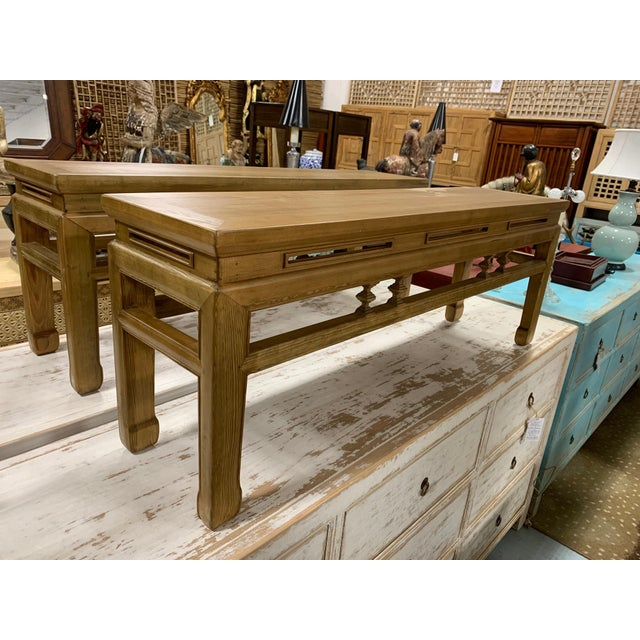great Asian low bench with carved design, this bench could be perfect for at the foot of a bed or entrance hallway. Could...