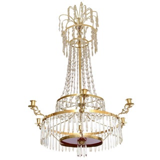 19th Century Antique Baltic Crystal Chandelier