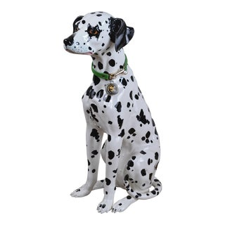 Vintage 1960s Ceramic Dalmatian Dog Figure