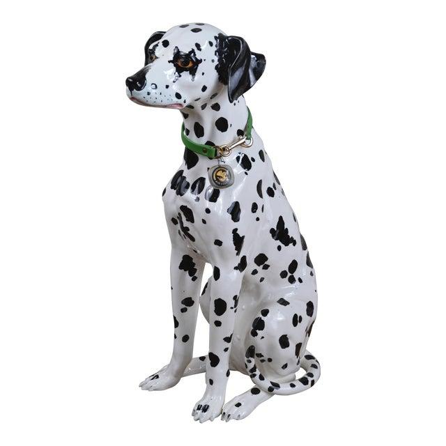 Vintage 1960s Ceramic Dalmatian Dog Figure For Sale