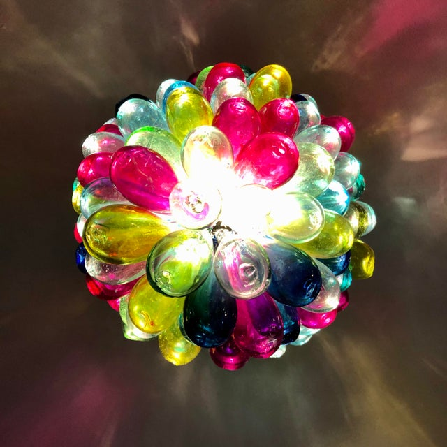 Recycled Hand Blown Glass Gemstones Color Chandelier For Sale - Image 10 of 12