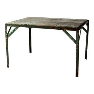 Industrial Wood Top Table