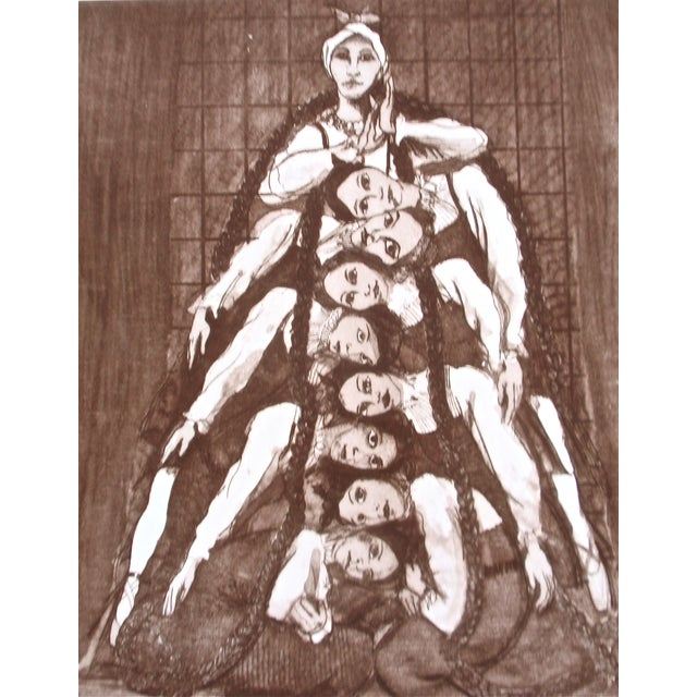 """""""Oakland Ballet-Les Noces"""" Etching - Image 1 of 8"""