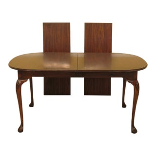 Harden Cherry Dining Room Table W. Drake Feet For Sale