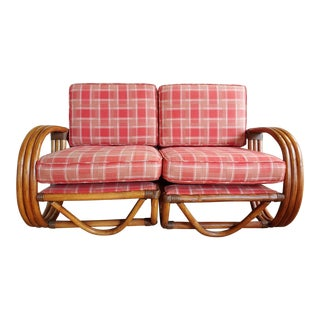 Mid-Century Modern Pretzel Sectional Sofa For Sale