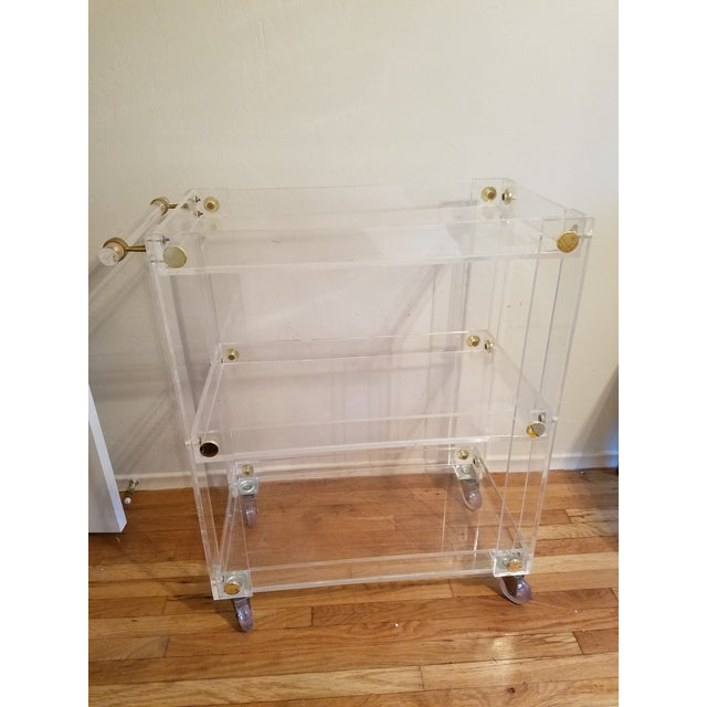 Custom Lucite Bar Cart - Image 4 of 4