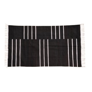 Hornbeam Rug, 4x6, Black & White For Sale