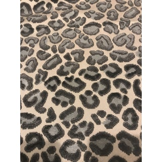 Beacon Hill Cheetah Velvet Silver Fabric For Sale