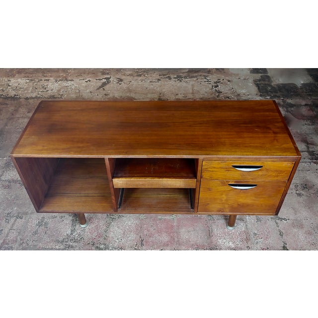 Mid-Century Modern Jens Risom -Danish Mid Century Modern Walnut Credenza-C1950s For Sale - Image 3 of 10