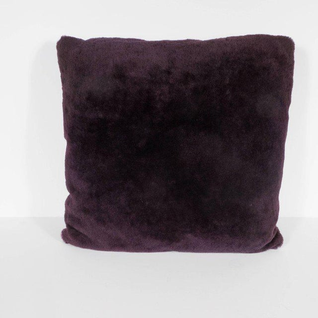 Custom Handmade Pillows in Luxe Smoked Amethyst Loro Piana Cashmere For Sale In New York - Image 6 of 9