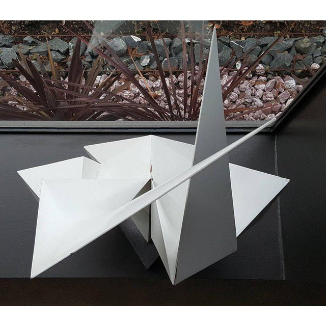 Vintage Abstract Origami Sculpture by Artist Edward D Hart For Sale In Dallas - Image 6 of 11