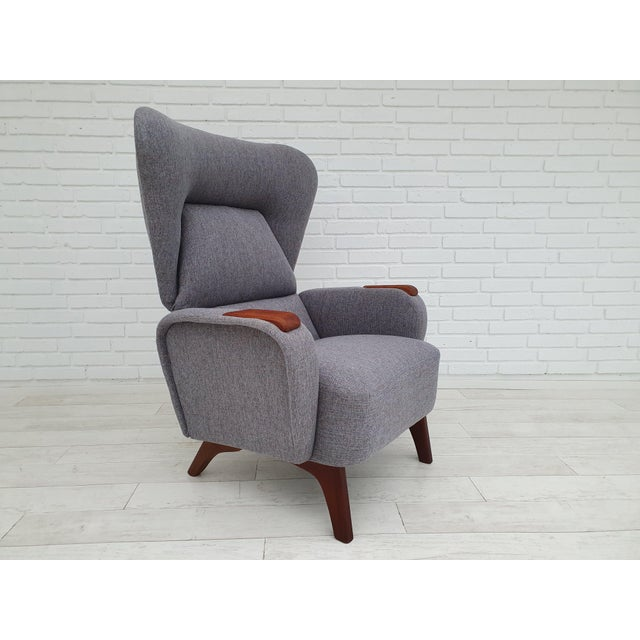 1970s Vintage Danish Lounge Chair For Sale - Image 13 of 13
