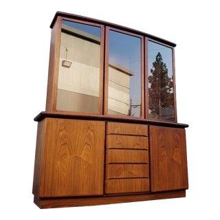 Mid 20th Century Skovby Rasmus Danish Rosewood Display Cabinet For Sale