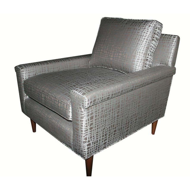 Modern Customizable Sutton Club Chair For Sale - Image 3 of 5