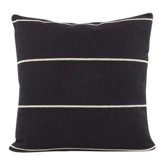 "Black Striped Decorative Pillow Cover, 20""x20"""