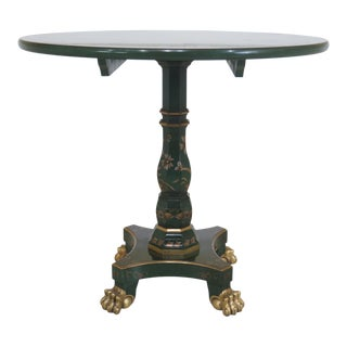 John Widdicomb Chinoiserie Round Green Occasional Table For Sale