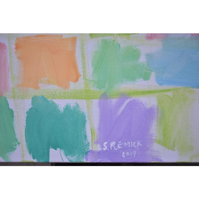 "Canvas Modern Abstract Contemporary Painting, ""Spring Equinox"", by Stephen Remick For Sale - Image 7 of 12"