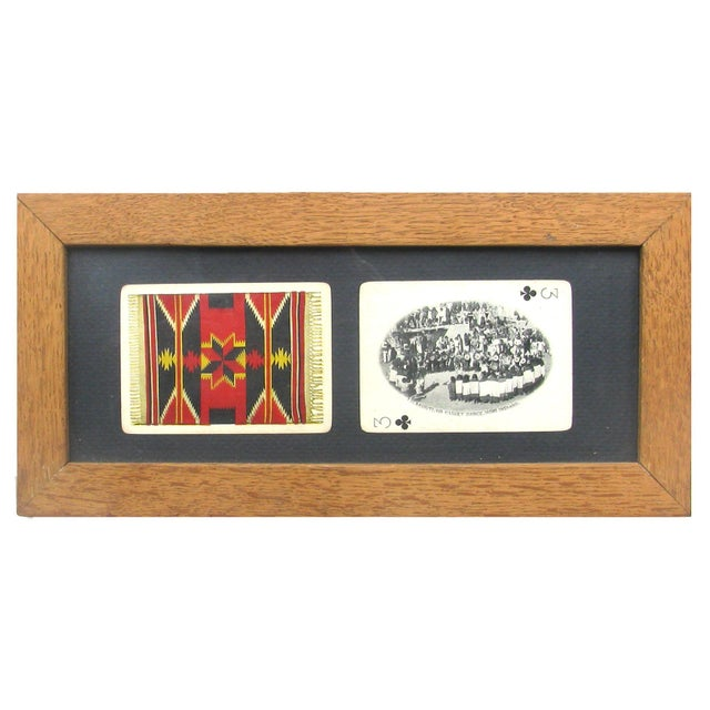 Mid-Century Southwestern Souvenir Cards, Framed For Sale - Image 4 of 4