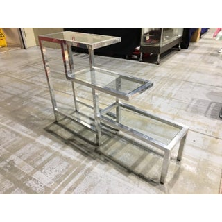 1970s Modern Aluminum & Glass Display Etagere Preview
