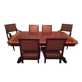 1990s Regency Style Mahogany Dining Set