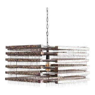 1960s Czech Metal Pendant Light For Sale