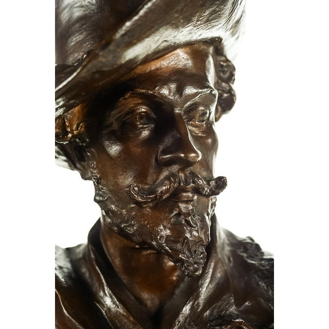 Neoclassical Rubens Bronze Bust Sculpture by H. Muller For Sale - Image 3 of 9